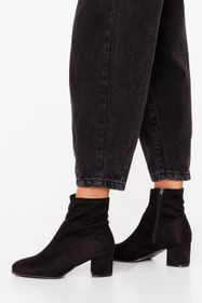 Nasty Gal Black Faux Suede For Dancin' Wide Fit He