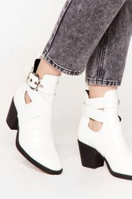 Nasty Gal White Do We Cross Your Mind Cut-Out Heel
