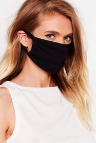 Nasty Gal Black Face It All Fashion Face Mask