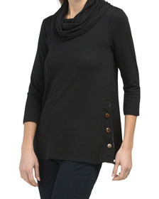 Baby Terry Cowl Neck Top