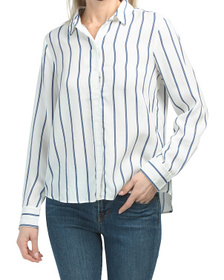 Split Rock Stripe Tofu Classic Shirt
