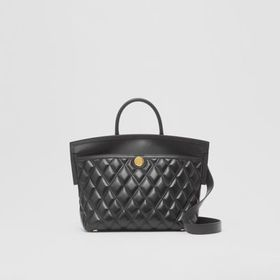 Burberry Small Quilted Lambskin Society Top Handle