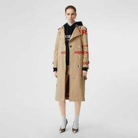 Burberry Horseferry Print Cotton Gabardine Trench