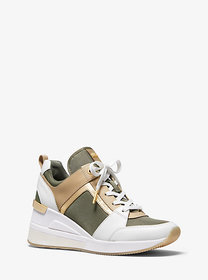 Michael Kors Georgie Canvas and Leather Trainer