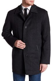 Cole Haan Herringbone Topper Coat