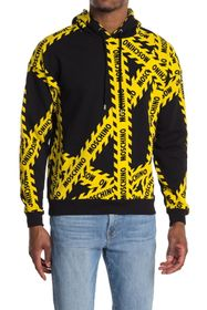 MOSCHINO Logo Caution Tape Pullover Hoodie