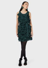 Armani Double silk Georgette dress with all-over r