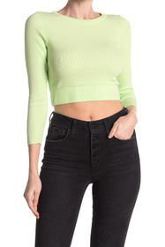 NSF CLOTHING Beatrice Ribbed Crop Top