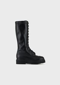Armani Lace-up leather boots