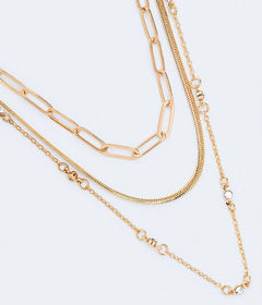 Aeropostale Multi Chain Necklace 3-Pack