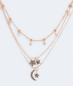 Aeropostale Moon & Stars Necklace 3-Pack