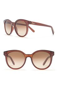 Salvatore Ferragamo 53mm Round Acetate Sunglasses