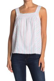 Vince Camuto Sleeveless Smocked Edge Top