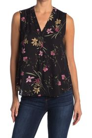 Vince Camuto V-Neck Sleeveless Floral Print Soiree
