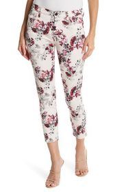 Jen7 by 7 For All Mankind Ankle Crop Skinny Print