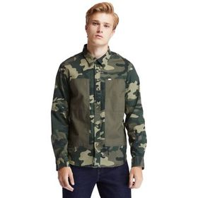 Timberland Men's Mixed-Media Camo Utility Overshir