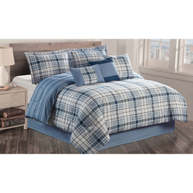 Pendleton Pastel Plaid 7pc. Comforter Set
