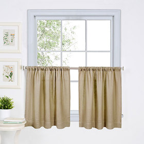 Cameron Kitchen Curtain Pair - Linen