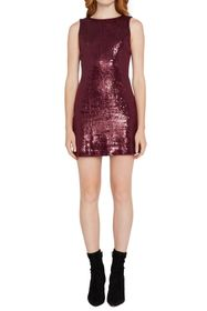 alice + olivia Kamryn Sequin Cowl Back Mini Dress