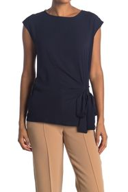 Vince Camuto Short Sleeve Soft Textured Mixed Medi