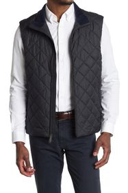 Brooks Brothers Diamond Quilt Zip Vest