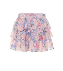 LoveShackFancy Brynlee floral cotton and silk mini