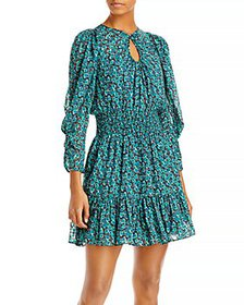 Rebecca Taylor - Roses Printed Keyhole Dress