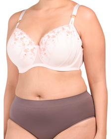 Full Figure Briana Embroidered Bra With Support St