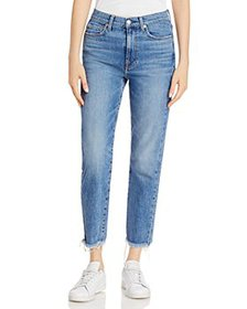 7 For All Mankind - Cropped Straight Leg Jeans in
