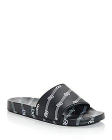 Balenciaga - Men's Logo Print Slide Sandals