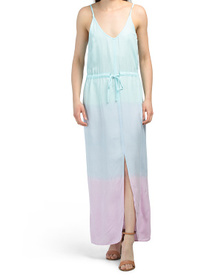 Made In Usa Tie Waist Maxi Dress