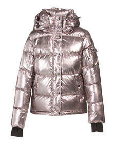 Women's Down Fill Metallic Ella Puffer Coat
