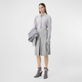 Burberry Box-pleat Detail Technical Wool Jersey A-