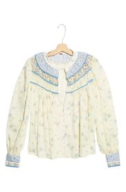 Free People Paloma Print Blouse
