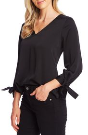 CeCe by Cynthia Steffe Tie Cuff Satin Top