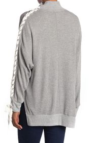 Free People Snow Drift Lace Up Sweater