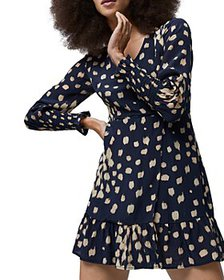 FRENCH CONNECTION - Geriel Printed Drape Dress
