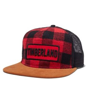 Timberland Men's Buffalo Check Trucker Hat