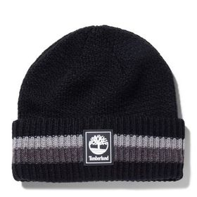 Timberland Men's Striped, Cuffed Beanie