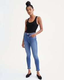 7 For All Mankind High Waist Ankle Skinny With Let