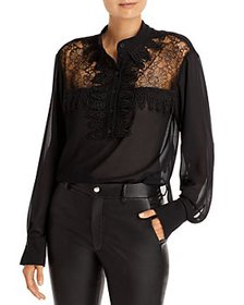 See by Chloé - Georgette & Lace Top