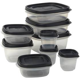 Rubbermaid 18pc. Storage Containers with Grey Lids