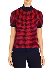 BOSS - Faryna Houndstooth Knit Top