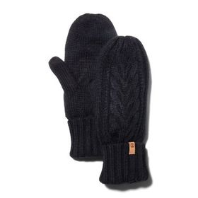 Timberland Women's Fleece-Lined Cable-Knit Mittens