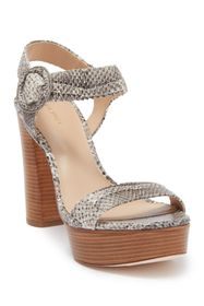 Via Spiga Ira Snakeskin Printed Leather Sandal