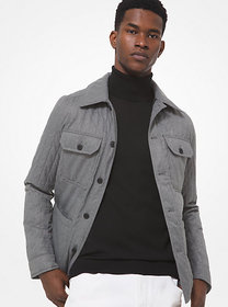 Michael Kors Quilted Shirt Jacket
