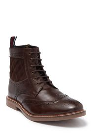Ben Sherman Brent Wingtip Quilted Leather Boot