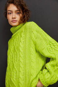 Anthropologie Alistair Cable-Knit Tunic Sweater