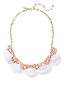 Pink Faux-Stone Statement Necklace - New York & Co