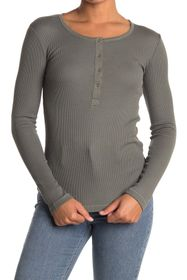Splendid Long Sleeve Thermal Henley